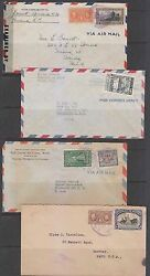 Panama 1940-48 Selection Of 20 Air Covers Censor, Certified To Costa Rica, Usa+