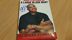 Signed Charles Barkley And Michael Wilbon Who Is Afraid Of A Large Black Man