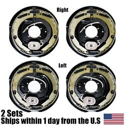 4pk 12 X 2 Electric Trailer Brake Assembly Left And Right Side 7000 6000 Axle