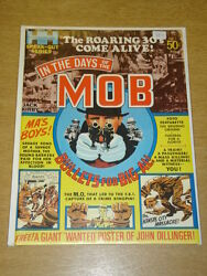 In The Days Of The Mob 1 1971 Vf+ Hampshire Us Magazine Kirby With Poster