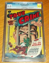 True Crime Comics 2 Cgc 6.0 May 1947 Used In Soti And Pop Cream To Off White Sa
