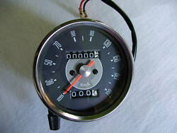 Kmph Grey Face Speedometer Kilometers Per Hour Black Case Speedo Smiths Type