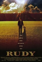 Rudy - Original Movie Poster Notre Dame Football Double Sided 27x40 Inches