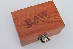 Raw Maple Wood Box Rolling Paper Storage Stash Magnetic New Limited Edition