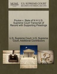 Poulos V. State Of N H U.s. Supreme Court Transcript Of Record With Supporting P