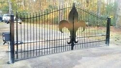 Driveway Entry Gate 15ft Wd Ds Fencing Handrails Yard Home Residential Security