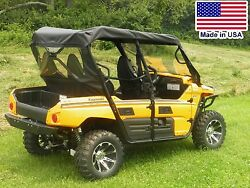 Rear Window And Roof For Kawasaki Teryx 4 - Puncture Proof - Soft Acrylic Top