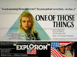 One Of Those Things 1971 Judy Geeson Explosion Don Stroud Uk Quad Poster