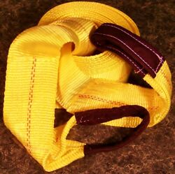 20 Foot X 4 Inch Big Tow Strap W/ Loops 20000 Capacity Truck Towing Rope Camo