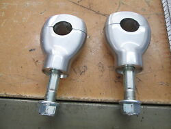 Nos Triple Tree Yoke Stem Clamps Extensions 1 Bar And 1/2 Bolt