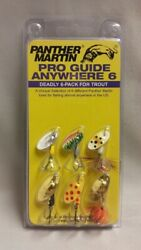 NEW Panther Martin Pro Guide Anywhere Spinner 6 Pack Trout Bass Walleye Crappie