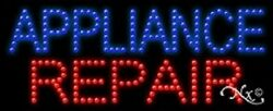"""New """"appliance Repair 27x11 Solid And Animated Led Sign W/custom Options 21350"""