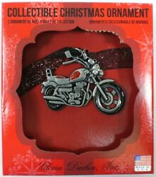Collectible Christmas Pewter Ornament Gloria Duchin Motorcycle New