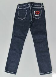 New Authentic Gucci Denim Jeans Pants wI Love You Interlocking G 6 284065 $159.99