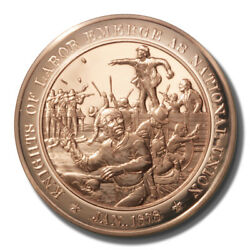 Franklin Mint History Of Us Knights Of Labor And National Union 1878 45mm Proof Br