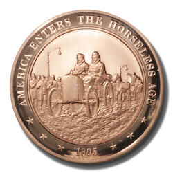 Franklin Mint History Of Us Age Of The Horseless Carriage 1895 45mm Proof Bronze