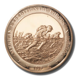 Franklin Mint History Of Us Expeditionary Forces In Europe 1918 45mm Proof Bronz
