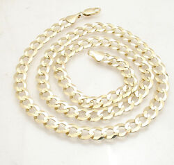 8.2mm Solid Miami Cuban Curb Chain Necklace Real 14k Yellow Gold 16 Thru 46