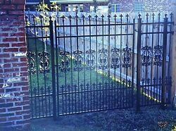 Ornamental Iron Walk Entry Gate 4 Ft Wd Ss Fencing Handrails .residential