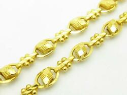 22k Yellow Gold Hand Made One Of Kind Diamond Cut Link Design 28 Necklace Gift