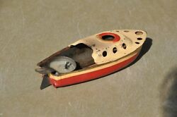 fine litho steam boat tin toy collectible