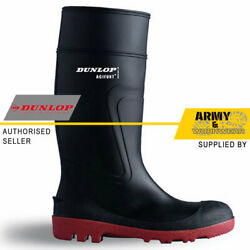 Dunlop Wellington Work Boots Waterproof Full Safety Rubber Steel Toe Sole Mens