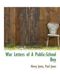 War Letters Of A Public-school Boy By Dr Paul Lrps Jones English Hardcover Boo