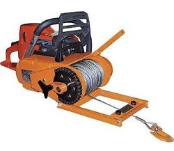 Winch - Chainsaw Mounted - 4000 Lb Cap - Includes 150 Ft Of 3/16 Cable - 60 Fpm