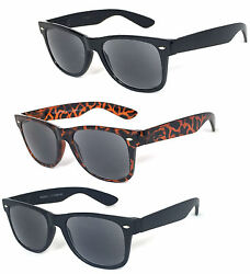 Square Frame Full Lenses Magnified Tinted Reading Sunglasses Sun Reader RE73 $8.49