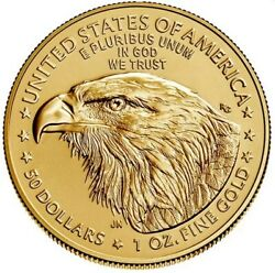 2021 1 Oz Gold American Eagle 50 Coin Brilliant Uncirculated Type 2 - In Stock