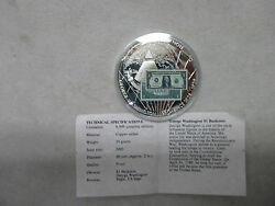 George Washington 1 Banknote 2003 Proof Coin American Mint With Coa