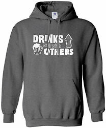 Threadrock Menand039s Drinks Well With Others Hoodie Sweatshirt Funny Beer