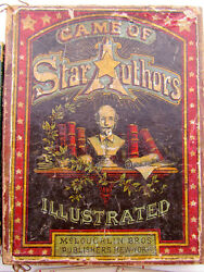 1890 card game of star authors illustrated