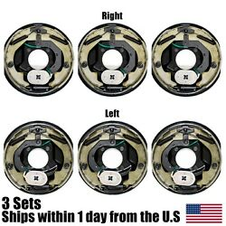6pk 10 X 2.25 10 X 2-1/4 Electric Trailer Brake Assembly Left Right 3500lb Axle