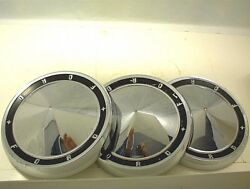 1960 1961 1962 Ford Hubcaps Dog Dish Chrome Poverty Caps