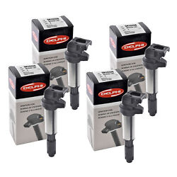 Set Of 4 Delphi Ignition Coil Gn10328 For Mini Bmw Rolls-royce 2001-2016