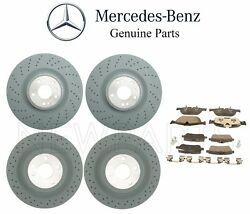 For Mercedes X166 Gl450 Gl550 Front And Rear Brake Disc Rotors W/ Pads Genuine Kit
