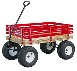 Amish Beach And Garden Wagon W 6andfrac12 Wide Off Road Tires 4 Color Choices Usa Made