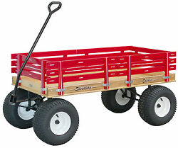 Large Amish Beach And Garden Wagon 6andfrac12 Wide Off Road Tires 4 Color Choices Usa