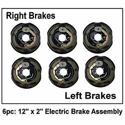 6pc Electric Trailer Brake 12 X 2 Assembly Right And Left Side 6000 7000 Axle