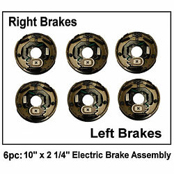 6pc Electric Trailer Brake 10 X 2.25 Assembly Right And Left Side 3500 Lb Axles