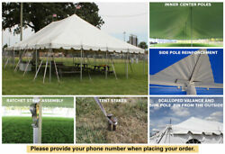 30x45 White Vinyl Classic Pole Tent for Wedding Outdoor Event Party Catering