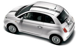 Euro Dual Hood Roof Rally Racing Stripes 3m Vinyl Graphic For 2011-2015 Fiat 500