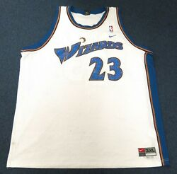 Michael Jordan White Wizards Jersey 3xl Diamond Crystals Blue On Jersey And Number