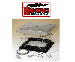 Lock Top Damper - Chimney Top Damper With Cable, Adhesive And Mounting Hardware