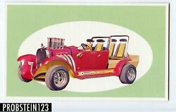 1970 Topps Way Out Wheels Bev Hills 442 Proof Card -