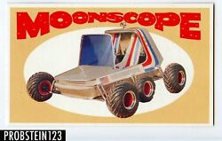 1970 Topps Way Out Wheels Moonscope Color Proof Card -