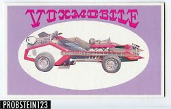 1970 Topps Way Out Wheels Vox Mobile Color Proof Card -