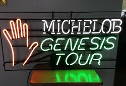Vintage Michelob Genesis Tour Neon Beer Sign Rare 1986 1987 Invisible Touch Tour