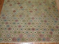Vintage Gorgeous Turkish Oushak Ushak Konya Deco Rug Size 7and0396and039and039x10and0393and039and039